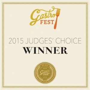 Judges' Choice Award GastroFest 2015